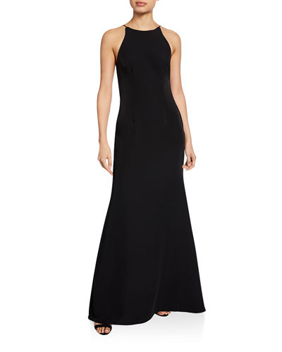 WAYF The Nina Sleeveless Cowl-Back Gown