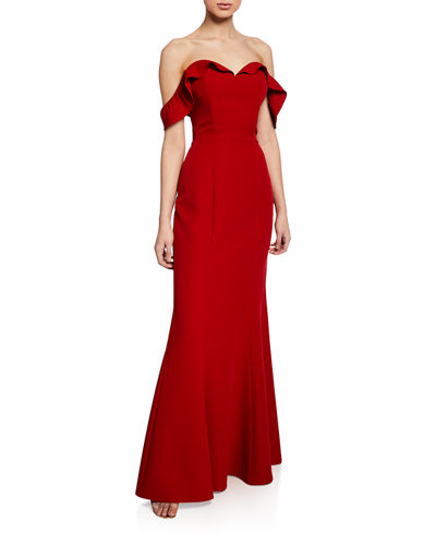 The Lisa Strapless Trumpet Gown w/ Lace-Up Back