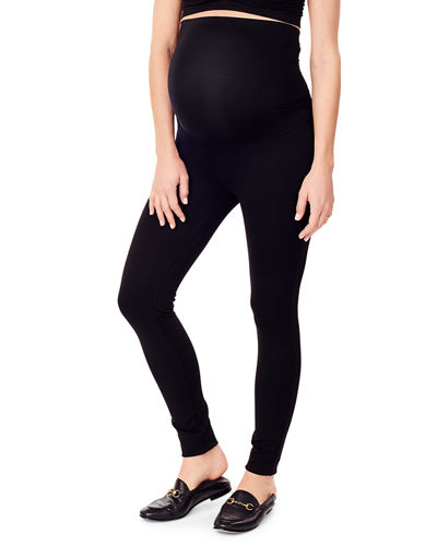 Maternity Skinny Ponte Ankle Pants with Whisper Crossover Panel