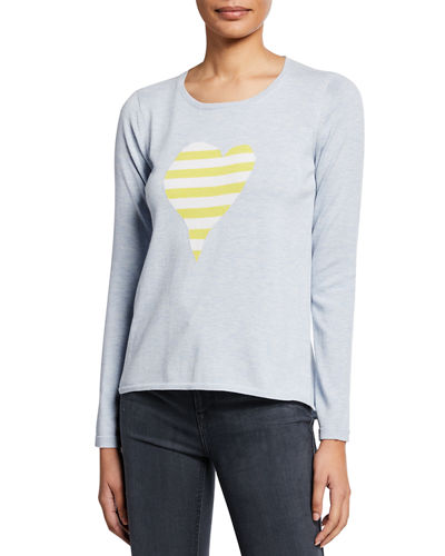 561e6bd8c7 Quick Look. Lisa Todd · Plus Size Fool For Love Striped Heart Long-Sleeve  Cotton Sweater