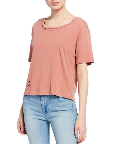 The Short CG Distressed Cotton Tee