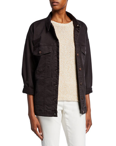 Organic Stretch-Cotton Relaxed Denim Jacket