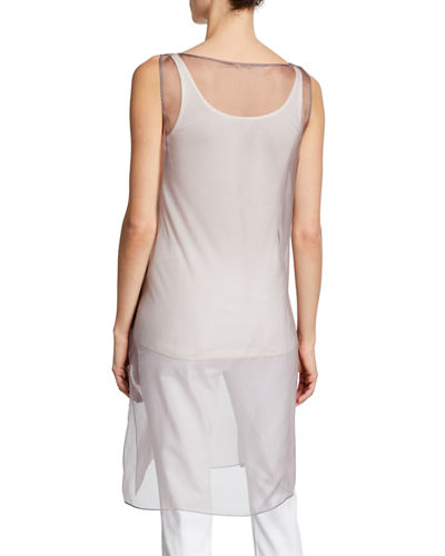 Eileen Fisher Washed Silk Organza Layering Dress