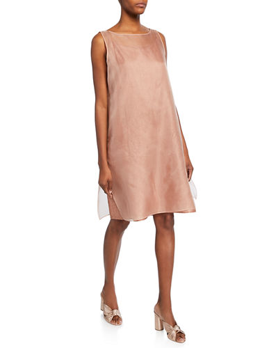 Washed Silk Organza Layering Dress