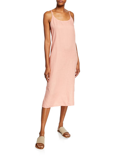 fba8834fd607 Quick Look. Eileen Fisher · Scoop-Neck Organic Handkerchief Linen Slip Dress