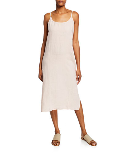 881c0efc36d5 Quick Look. Eileen Fisher · Petite Scoop-Neck Organic Handkerchief Linen Slip  Dress