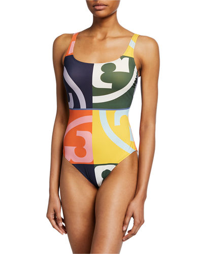 Wild Allover Printed Tank One-piece Swimsuit