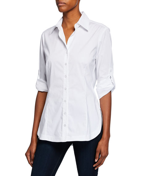 Finley Joey Button-Down Long-Sleeve Roll-Tab Shirt