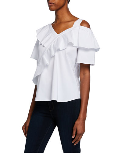 7a50d09c98c4f2 Quick Look. Finley · Sasha One-Shoulder Ruffle Top