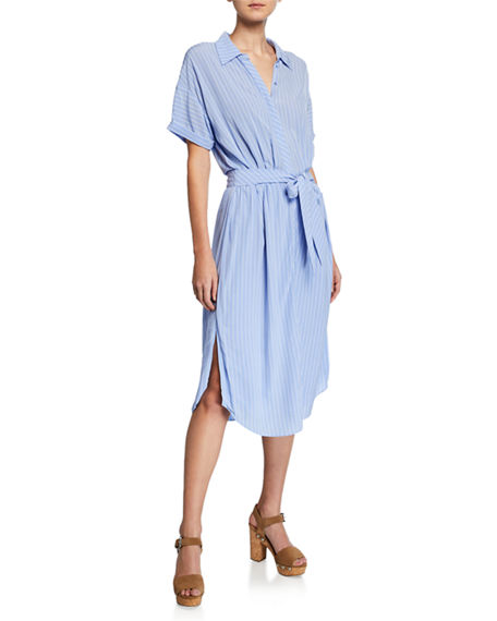 Joie Dresses CHELLIE STRIPED SHORT-SLEEVE SHIRTDRESS
