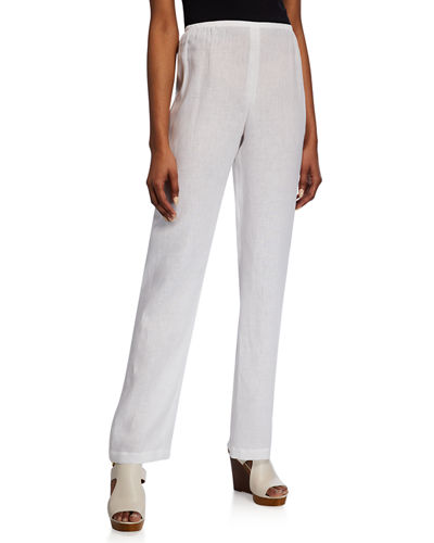 c606302214662 Quick Look. Caroline Rose · Tissue Linen Straight-Leg Pants