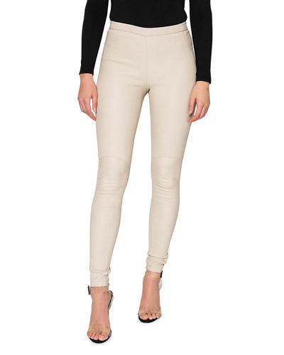 Kelly Leather Skinny Ankle Pants
