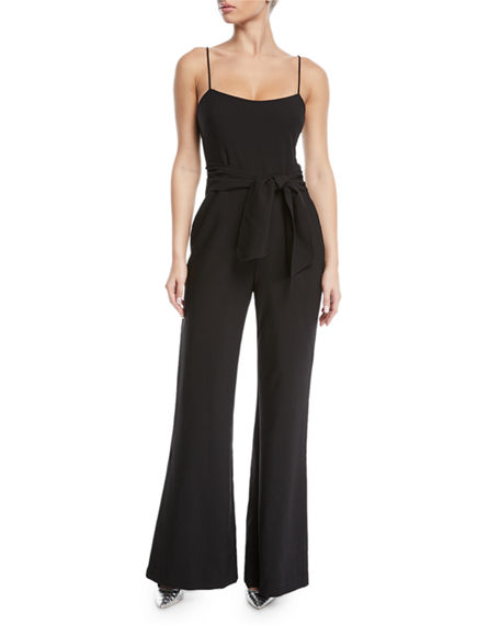 Likely GENEVIEVE WIDE-LEG TIE-FRONT JUMPSUIT