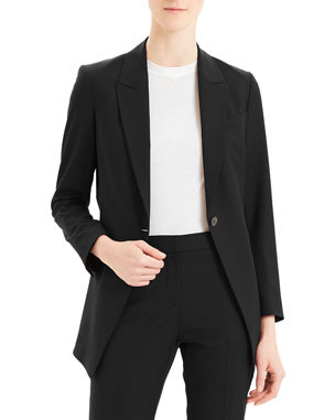 6895358a915 Theory Etiennette One-Button Good Wool Suiting Jacket