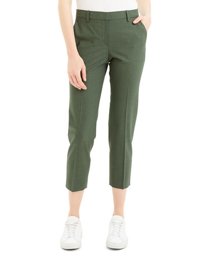 Treeca Skinny-Leg Cropped Good Wool Suiting Pants