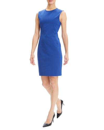 97103ab0e15d Quick Look. Theory · Crewneck Sleeveless Fitted Double Stretch Dress