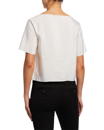 Theory Voyage Fluid Silk Pocket Tee