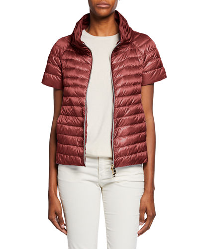 Ladybug Short-Sleeve Puffer Jacket w/ Cape