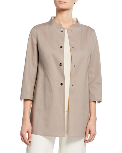 Mack Reversible Mandarin-Collar Coat