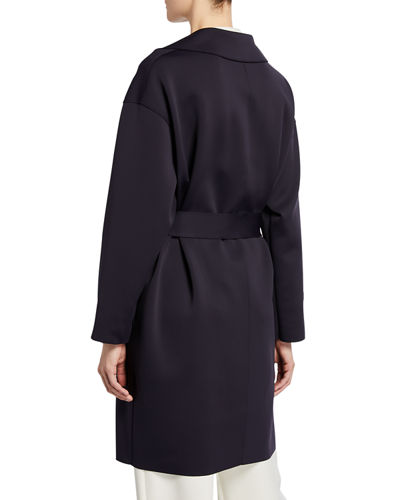 Harris Wharf London Dropped Shoulder Belted Coat