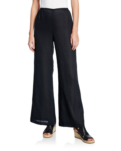 Caroline Rose Tissue Linen Wide-Leg Pants