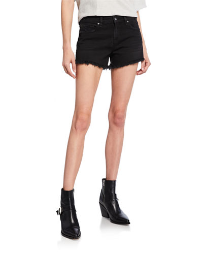 Gemma Mid-Rise Denim Cutoff Shorts