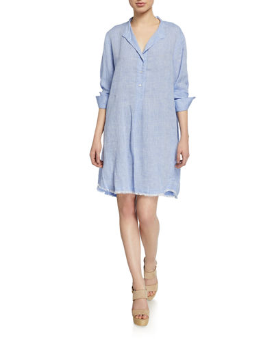 5daf4bb7a7 Quick Look. Finley · Henri Long-Sleeve Washed Linen Dress ...