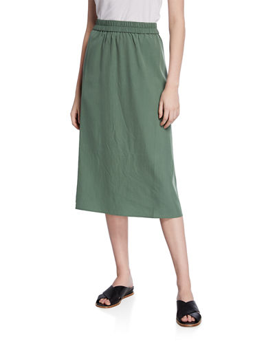 a3b96cb21a1b Quick Look. Eileen Fisher · Sandwashed Midi Skirt