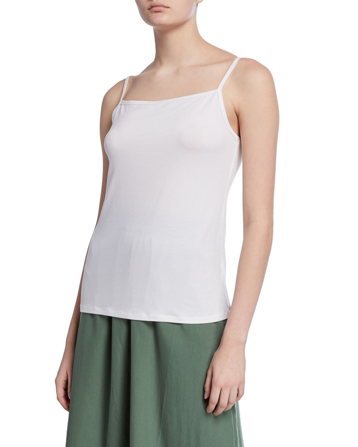 Eileen Fisher Tops SQUARE-NECK JERSEY CAMISOLE