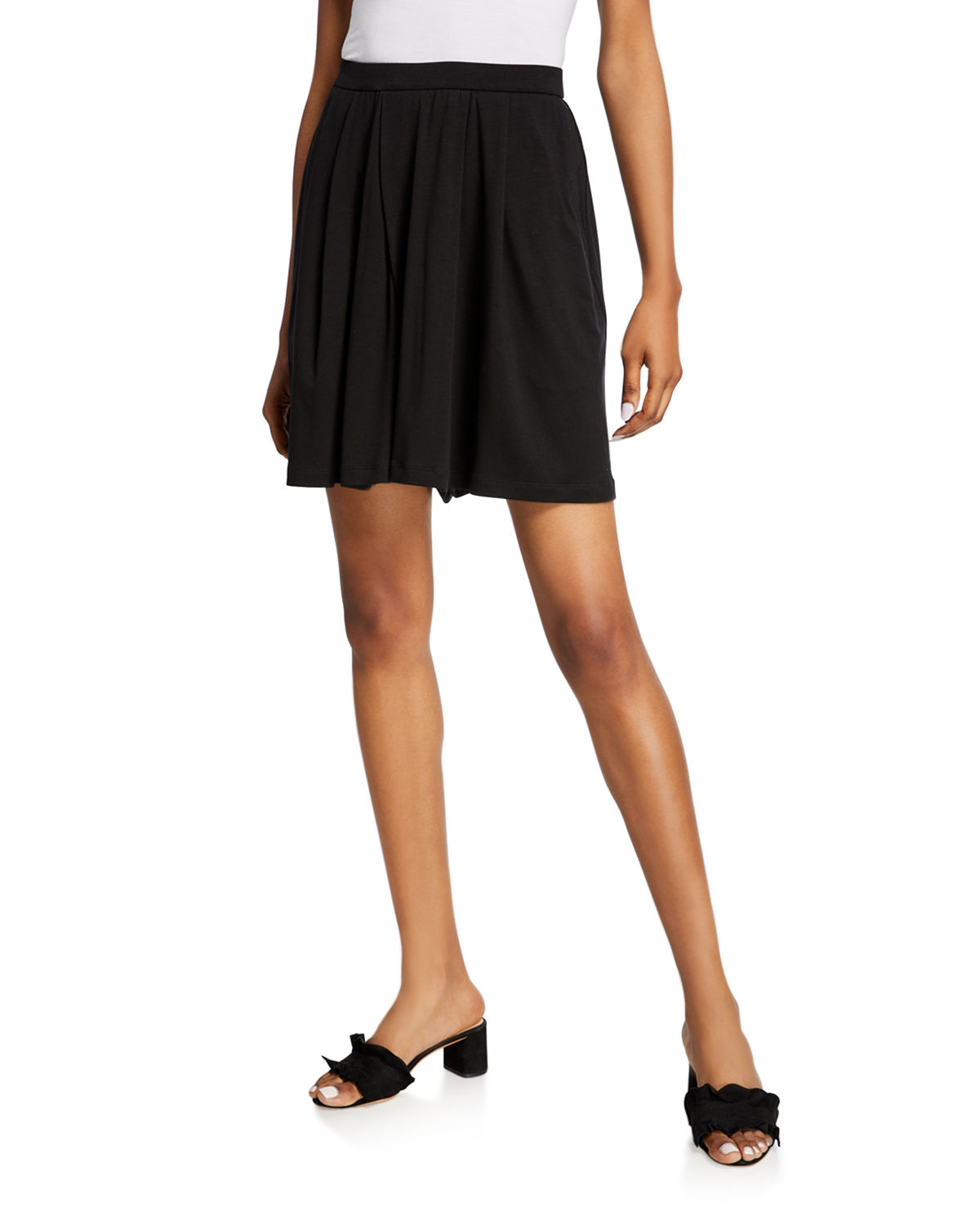 Eileen Fisher Shorts JERSEY PLEATED WALKING SHORTS