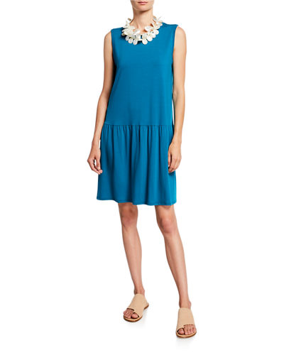 Petite Drop-Waist Sleeveless Jersey Dress
