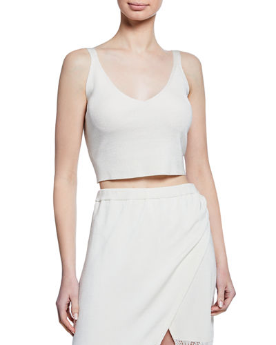 Mirabelle V-Neck Sleeveless Crop Top