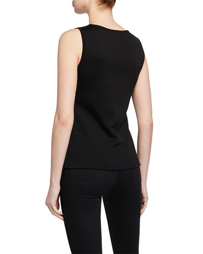 St. John Collection Scoop-Neck Milano Knit Contour Tank