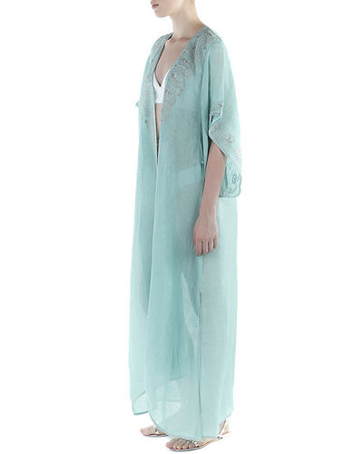 Flora Bella Xanadu Embroidered Long Coverup Kimono