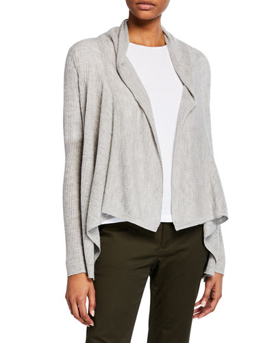 b6bc67b7330 Quick Look. Vince · Ribbed Drape-Front Wool-Cashmere Cardigan
