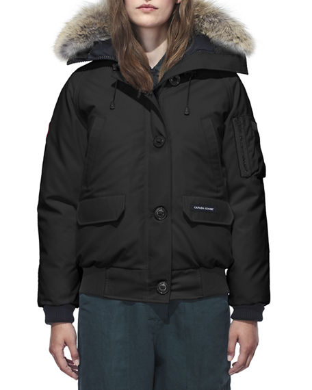 Canada Goose Jackets Chilliwack Down Bomber Jacket w/ Fur Hood