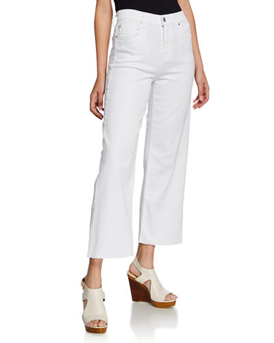 Alexa Cropped Wide-Leg High-Rise Jeans