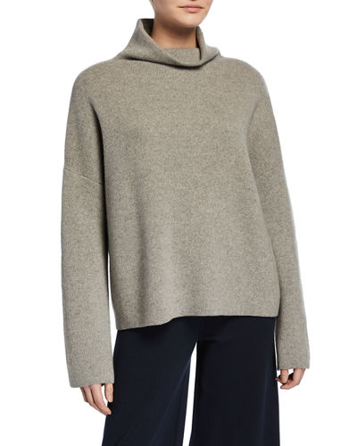 Funnel-Neck Wool-Cashmere Sweater