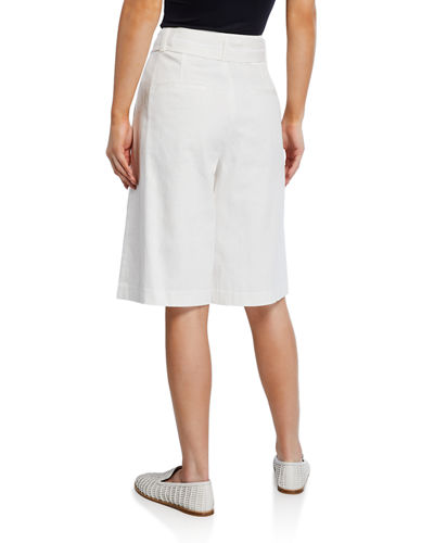 Vince High-Rise Belted Bermuda Shorts