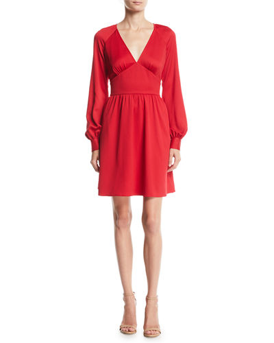 7e9060cb359d05 Quick Look. MICHAEL Michael Kors · Short Raglan-Sleeve Cocktail Dress.  Available in Red