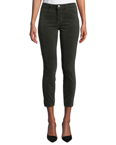 Margot Velvet High-Rise Skinny Ankle Jeans