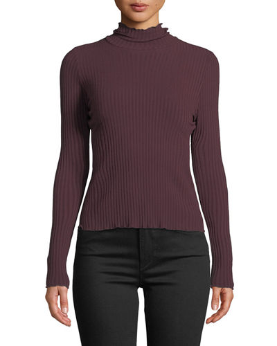 c390d6732 Fitted Ribbed Turtleneck Sweater