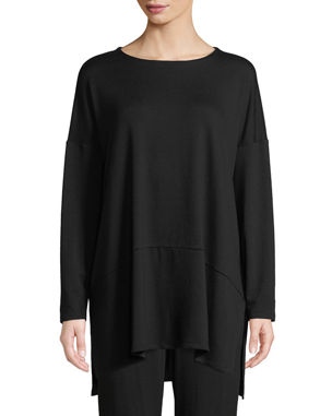 e56fd4aebac1 Eileen Fisher Petite Oversized Terry Cloth Layered Tunic