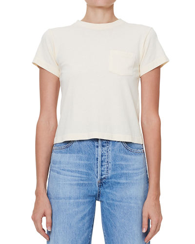Grace Short-Sleeve Cropped Pocket Tee