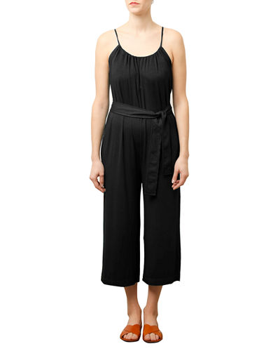 495e2679f7 Quick Look. Three Dots · Sleeveless Shirred Crop Jumpsuit