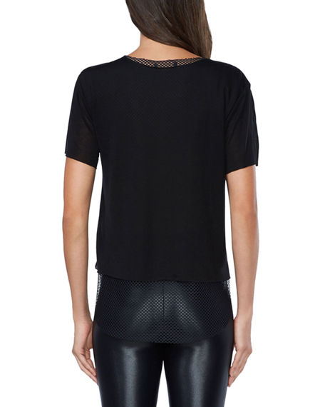 Image 3 of 3: Koral Double Layer Tee with Mesh