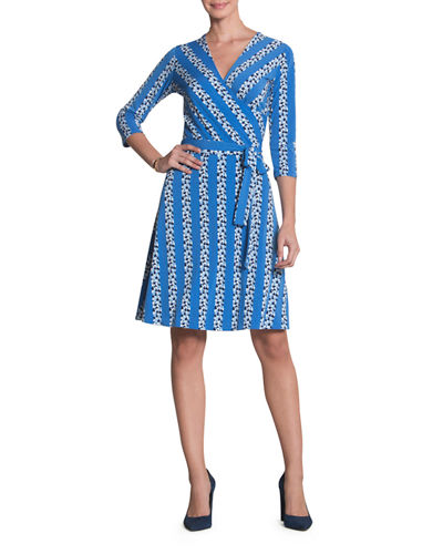 3/4-Sleeve Perfect Wrap Dress