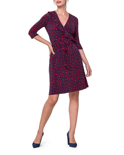 Felicity Perfect Printed Jersey Wrap Dress
