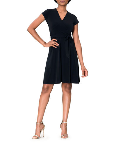 Leota Cap-Sleeve Jersey Wrap Dress