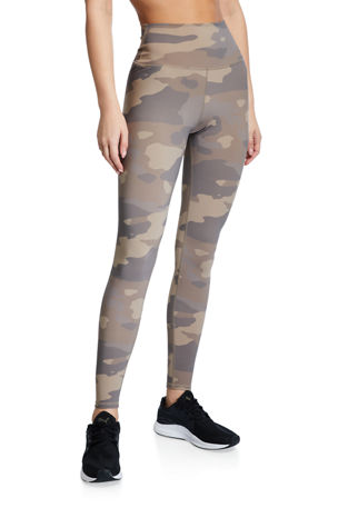 Alo Yoga Vapor Camo-Print High-Waist Performance Leggings
